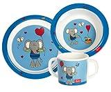 sigikid 24405 Lolo Lombardo - Set di stoviglie in melammina per bambini, in confezione regalo
