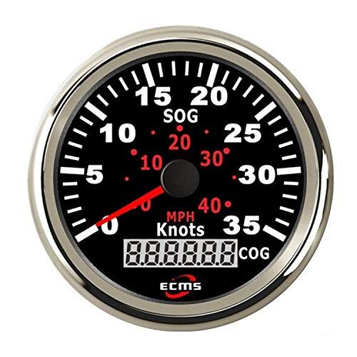 Kfz-Instrument Wasserdichtes Boot Yacht 85mm GPS Tachometer 0-35MPH 0-60KM / H mit COG Intelligentes Messsystem