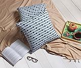 storeindya Set von 2Hand Gewebt 100% Baumwolle Kissen Bezüge für Überwurf Kissen Quadratisch Kissen für Sofa Home Betten Décor. Art Deco 17 x 17 18x18 Rhythmic Dotted Collection