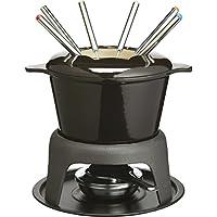 MasterClass Cast Iron Meat / Cheese / Chocolate Fondue Set,  21 x 18 cm - Black