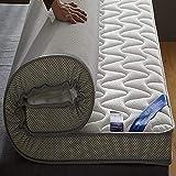 Tatami Memory Foam Mattress Topper,pillowtop 10cm Latex High Elasticity Breathable Non Toxic Dormitory