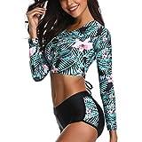 CICIYONER Damen Set Sonnencreme Surfanzug Push-Up Gepolsterter, wasserdichter BH-Badeanzug S-XXL