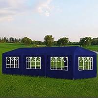 Shengfeng Pabellones de Exterior Cortina para Fiesta Azul con 8Paredes 9x 3x 2,5M. Carpa Plegable Carpa de jardín Carpa Eurolandia Carpa Exterior Carpa Impermeable