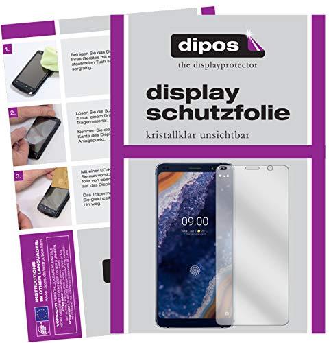 dipos I 6X Schutzfolie klar passend für Nokia 9 PureView Folie Displayschutzfolie (3X Vorderseite + 3X Rückseite)