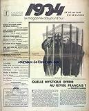 1934 LE MAGAZINE D'AUJOURD'HUI [No 21] du 28/02/1934 - ARTICLES DE FAURE-BIGUET - PAUL BOURGET - BORDEAUX - LAFUE - CLAUSER - ANDRE - THIERRY-MAULNIER - AGATHA CHRISTIE
