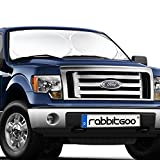 Rabbitgoo Car Sun Shade Windscreen Sunshade Keeping Your Vehicle Cool, Excellent UV Heat and Sun Reflector, Flexible Size for SUV, Truck, Fit Windscreen Car Large or Small, Silver 167x92.5 CM