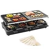 Ultratec Raclettegrill für bis zu 8 Personen mit 2 verschiedenen Grillplatten, 1400 Watt