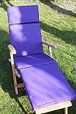 Gartenmöbel-Auflage - Auflage für Gartenliegestuhl in Violett