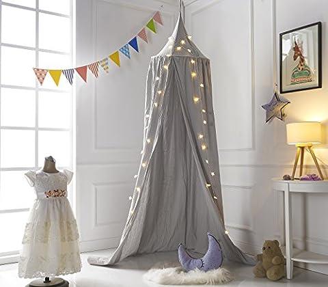 Truedays Baldaquin Ciels de Lit Moustiquaire Rideau de Lit Tente de Jeu pour Bébé Enfant Accessoires de Literie DIY Décoration Chambre