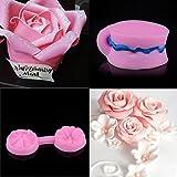 Fuibo Neue Silikon 3D Fondant Kuchen Rose Blume Schokolade Form Form Werkzeuge