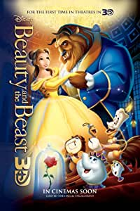 BEAUTY AND THE BEAST MOVIE FILM POSTER PRINT APPROX SIZE 12X8 INCHES