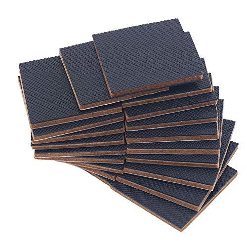 Shintop 20 STÜCK 5cm Rutschfeste Möbeluntersetzer, Premium Selbst-Klebende Silikon Möbel Halter& Filz zum Schutz von Fliesen, Laminaten, Hartholz-Böden