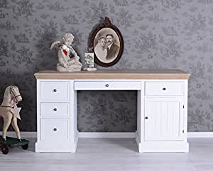 gigantischer schreibtisch shabby weiss landhausstil palazzo exclusiv k che haushalt. Black Bedroom Furniture Sets. Home Design Ideas