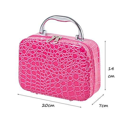 CLOTHES- Sacchetto cosmetico della borsa di trucco della signora sacchetto cosmetico del sacchetto cosmetico di viaggio sacchetto cosmetico di grande capacità ( Colore : Rose red ) Rose Red