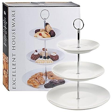 Ceramic Cake Stand 3 Tier Porcelain Serving