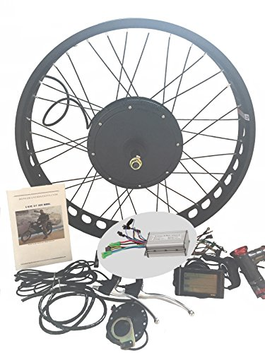 48V1200W Hub Motor lektro-Fahrrad Umbausatz Electric Bike Conversion Kit 4.0 Fat Rim + LCD + Tire Theebikemotor (24