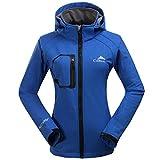CIKRILAN Femme Imperméable Coupe-vent Capuche Veste Softshell Outdoor Sport Camping Randonnée Trekking Manteau (Small, Bleu)