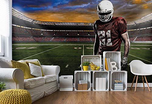 American Furniture Warehouse (Wallsticker Warehouse American-Football-Spieler Stadion Vlies Fototapete Fotomural - Wandbild - Tapete - 368cm x 254cm / 4 Teilig - Gedrückt auf 130gsm Vlies - 1109V8 - Fußball & Sport)