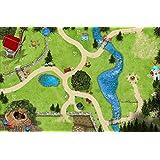 Forêt Enchantée - SM11 - tapis de jeu / Jeu tapis pour la chambre des enfants - Dimensions: 150 x 100cm - Accessoires adaptés à Schleich, Papo, Bullyland, Playmobil etc.