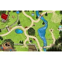 Bosque mágico alfombra infantil de juego | SM11 | De buena calidad para el cuarto de los niños | Tamaño: 150 x 100 cm | Accesorios adecuados para Schleich, Papo, Bullyland, Playmobil etc. | STIKKIPIX
