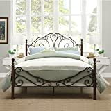 LeAnn Graceful Scroll Bronze Iron Bed Frame (Full) by Tribecca Home