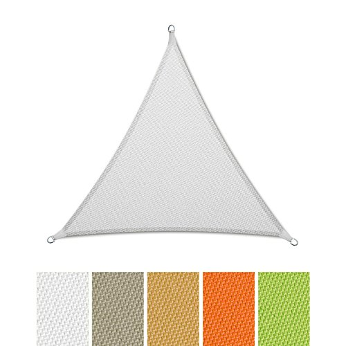 Casa Pura voile d'ombrage imperméable | Triangle gleichseitig – Test Note 1.4 – Protection UV – Différentes tailles et couleurs 3x3x3m weiß