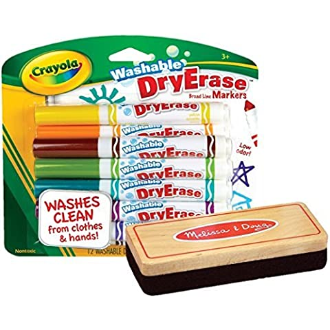 Crayola Washable Dry Erase Markers, Assorted Colors,