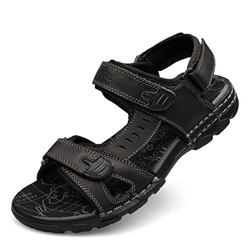 Men's Fashion Leather High Quality Beach Sandals Black Men Sandals