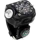 Taschenlampe Outdoor Armbanduhr Blendung Taschenlampe Wiederaufladbare super helle Langstrecken-Nachtlauf-Multifunktions-Taschenlampe