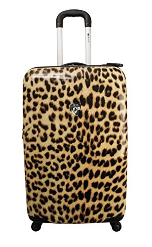Leopard Light (Koffer, Reisegepäck, Trolley by Heys - Premium Designer Hartschalen Koffer - Novus Art Leopard Light Koffer mit 4 Rollen Medium)