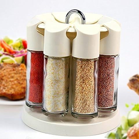 ZR Revolving spice cofanetto, jar speziale, contenitore per spezie,
