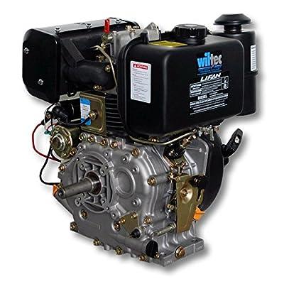 LIFAN 186 Dieselmotor 6,3kW (8,6PS) 25 mm mit Lichtmaschine und E-Start 418 ccm