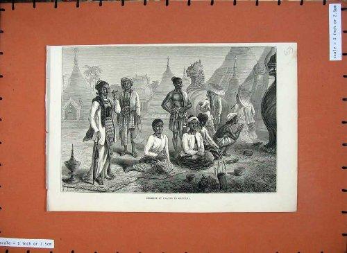 Gaudama-Eingeboren-Kostüme 1875 Gebet der Schönen Kunst (Kostüme 1875)