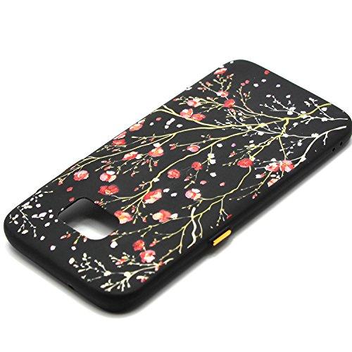 Coque Galaxy S7 Edge, Étui Galaxy S7 Edge, ISAKEN Coque Samsung Galaxy S7 Edge - Étui Housse Téléphone Étui TPU Silicone Souple Coque Ultra Mince Gel Doux Housse Motif Arrière Case Antichoc Doux Durab fleur A