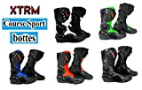 XTRM Bottes de moto CORE Adulte bottes certifiÃes CE sur la route course quad tourisme armure de sport - Rouge - EU 44 (UK 10)