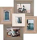 empireposter - Collage Bilderrahmen - Catania Multishot - Größe (cm), ca. 51x47 - Wechselrahmen, NEU - Beschreibung: - Holzrahmen mit Glasscheibe, braun - Außengröße 51x47 cm für 5 Fotos - 2 Fotos ca 13x18 cm, 2 Fotos 10x15 cm, 1 Foto 9x9 cm -