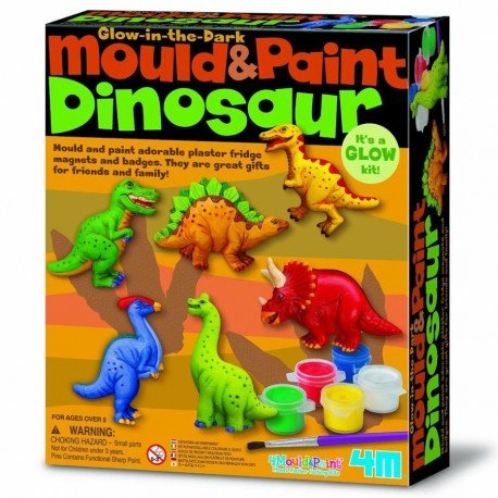 Barrutoys MODELAR Kit and Paint 4M to make MAGNETS, Pins of Dinosaurs Crafts Children + 5 years