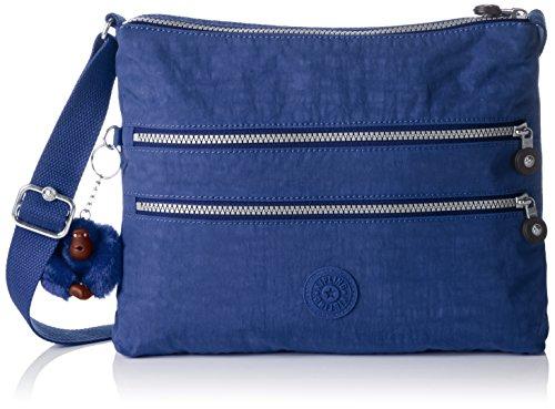 Kipling Alvar, Borsa a Tracolla Donna, Blu (REF33V Jazzy Blue), 33x26x4.5 cm (B X H X T)