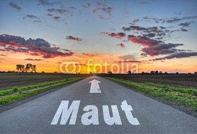 "Alu-Dibond-Bild 120 x 80 cm: ""Maut"", Bild auf Alu-Dibond"