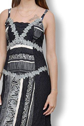 FOR HER PARIS - Robe femme à brettelles - Robe femme taille 38 de couleur noir Noir