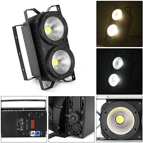 Audience Blinder 2 × 100W Bühnenbeleuchtung 2 in 1 COB LED Theater lampe IP20 horizontal Blinder Lampe schwarz -