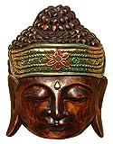 Schöne 20 cm Buddha Holz Wandmaske Budda Maske 57