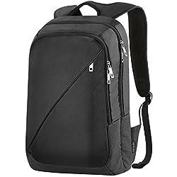 REYLEO Mochila de Portátil Backpack Impermeable Para el Laptop del Negocio, Trabajo, Diario, Ocio - 19L Negro RB01