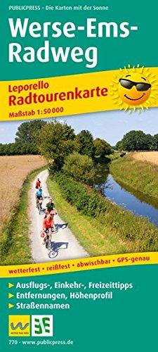 Preisvergleich Produktbild Werse-Ems-Radweg: Leporello Radtourenkarte mit Ausflugszielen, Einkehr- & Freizeittipps, Entfernungen, Höhenprofil, Straßennamen, wetterfest, ... 1:50000 (Leporello Radtourenkarte / LEP-RK)