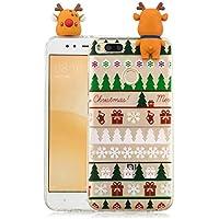 Everainy Xiaomi Mi 5X/Xiaomi Mi A1 Silikon Hülle 3D Weihnachts dünn Durchsichtig Hüllen Handyhülle Gummi Xiaomi... preisvergleich bei billige-tabletten.eu