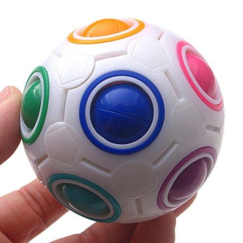 QUINTRA Neue Luminous Stress Reliever Regenbogen Magie Ball Kunststoff Cube Twist Puzzle Spielzeug