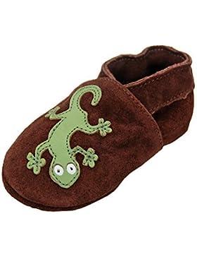 Zapatos primeros pasos Zapatillas De Cuero Pantuflas Zapatos de gateo bebé con suela de goma gr.19-31 por lappade...
