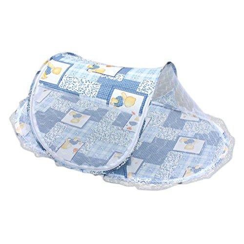 Clode® Sommer Baby Mosquito Mesh Net Krippe Kind tragbar für Reise, Babybett Falten Baby Krippe Moskitonetz Blau