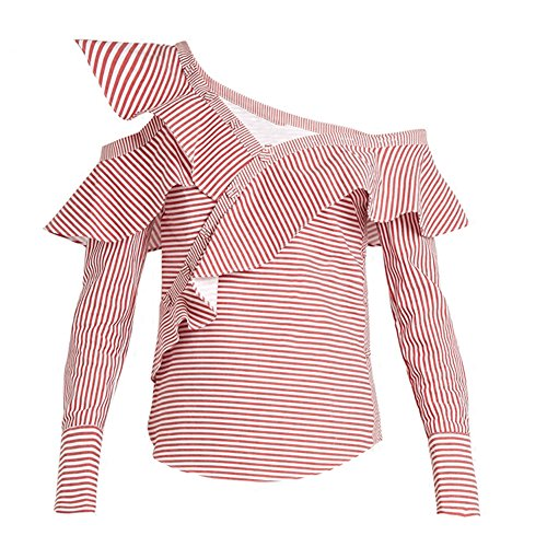 Bayaya Damen Bluse Gr. Medium, rot (Jeans Aeropostale Flare)