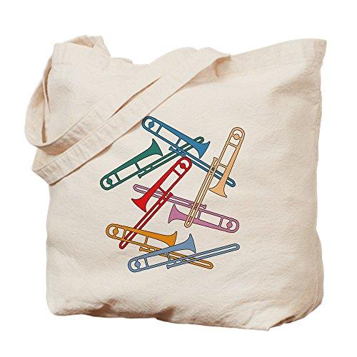 CafePress–Colorful Posaunen–Leinwand Natur Tasche, Reinigungstuch Einkaufstasche Tote S khaki